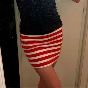 Forever 21 red and white striped miniskirt!!!